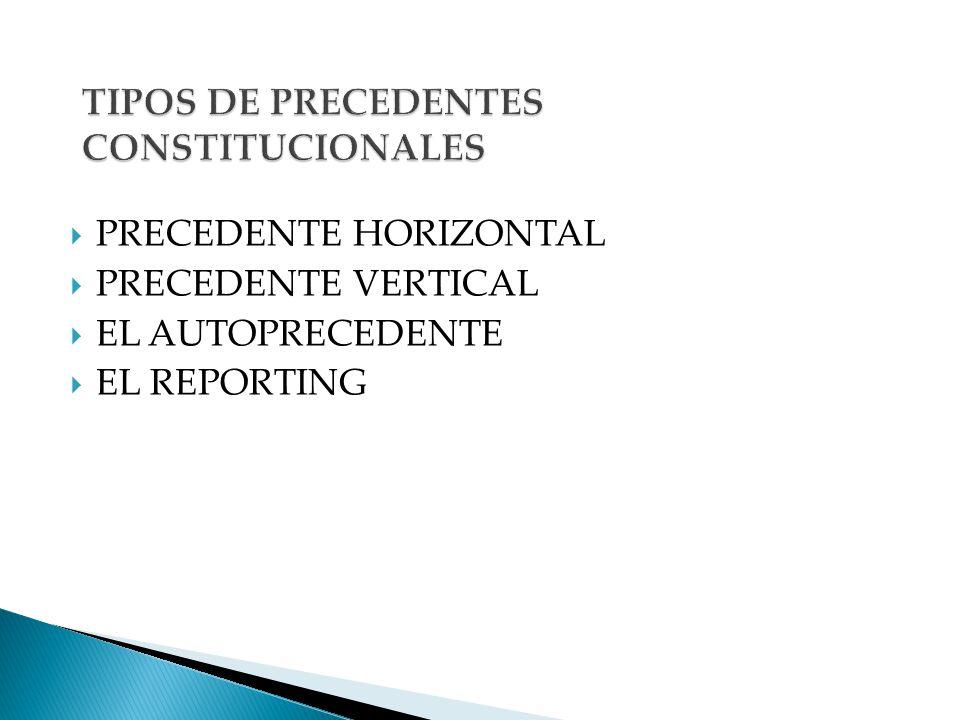 TIPOS DE PRECEDENTES CONSTITUCIONALES
