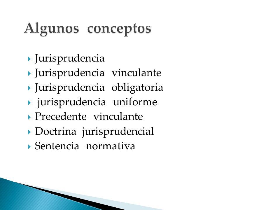 Algunos conceptos Jurisprudencia Jurisprudencia vinculante