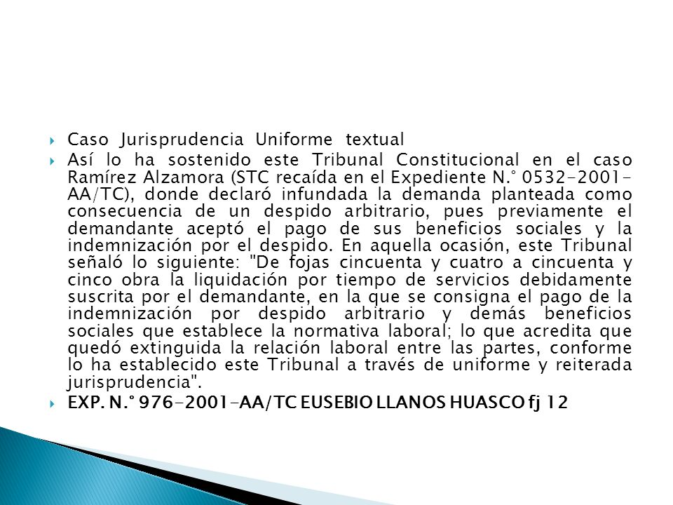 Caso Jurisprudencia Uniforme textual