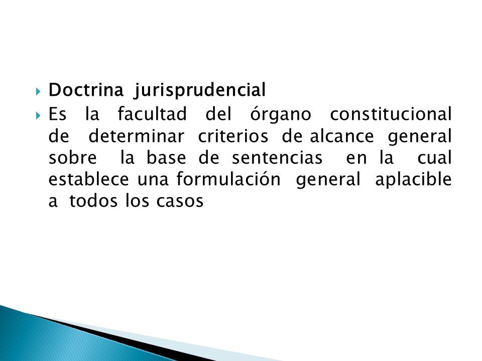 Doctrina jurisprudencial