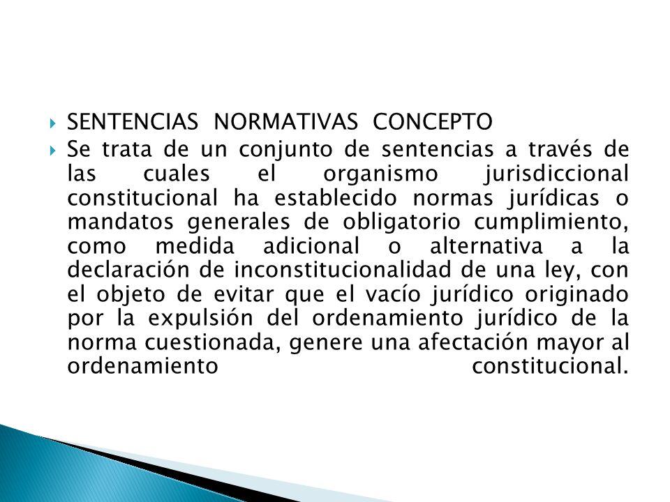 SENTENCIAS NORMATIVAS CONCEPTO