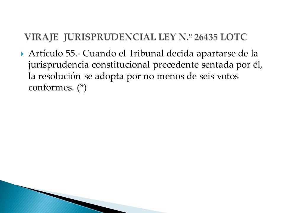 VIRAJE JURISPRUDENCIAL LEY N.º 26435 LOTC