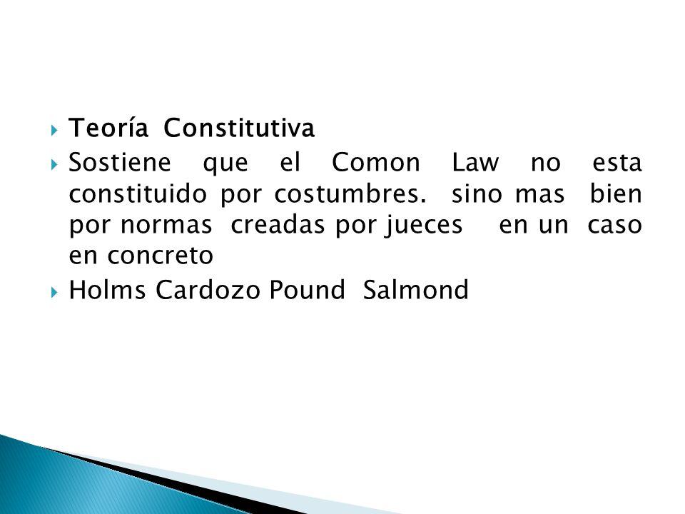 Teoría Constitutiva