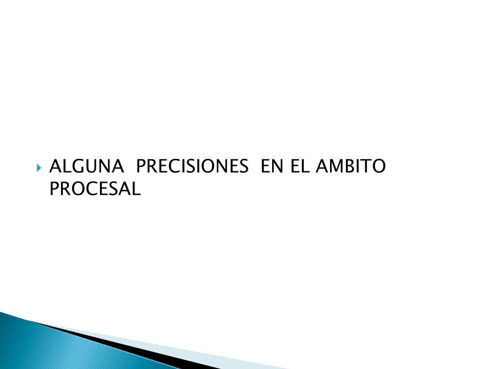ALGUNA PRECISIONES EN EL AMBITO PROCESAL