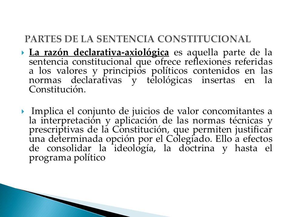 PARTES DE LA SENTENCIA CONSTITUCIONAL