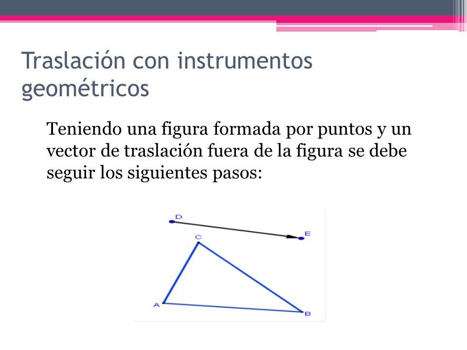 Traslación con instrumentos geométricos