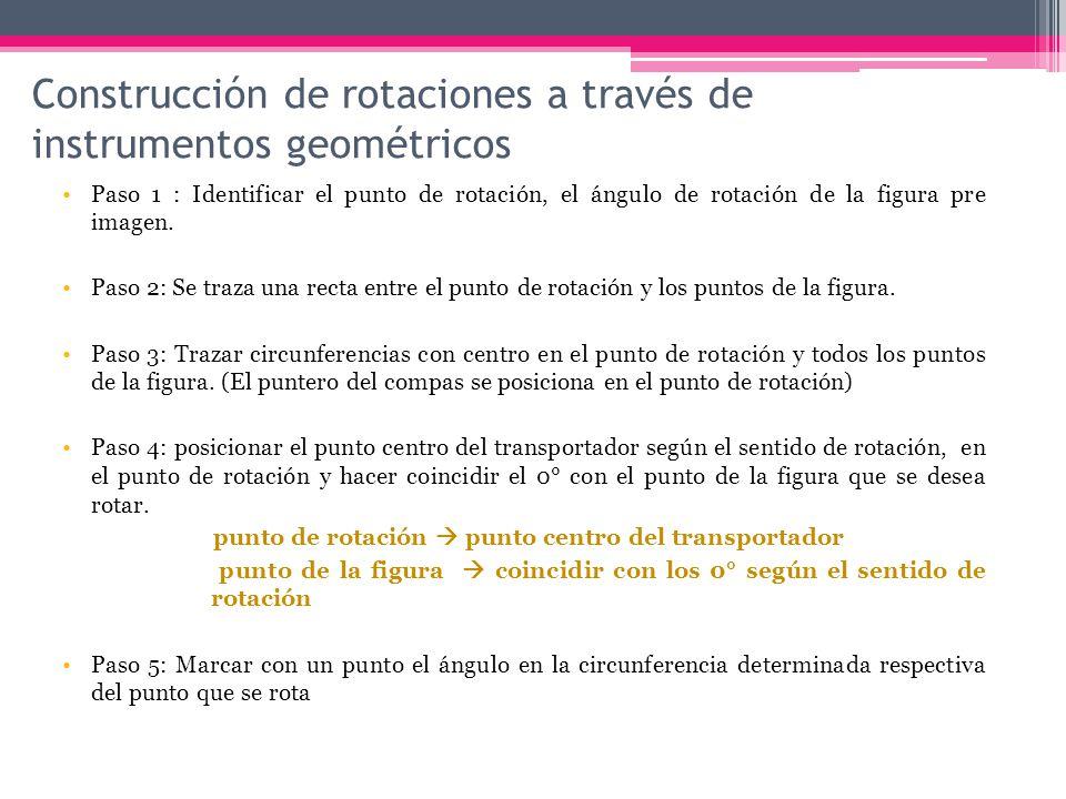 Construcción de rotaciones a través de instrumentos geométricos