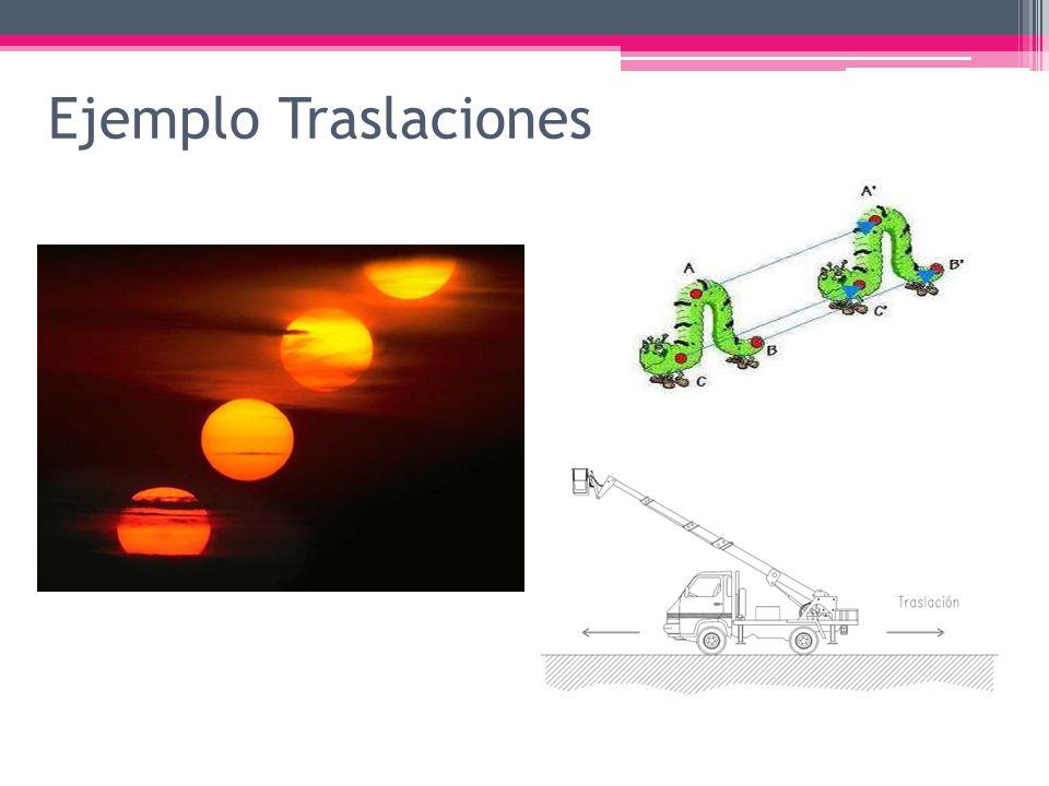 Ejemplo Traslaciones