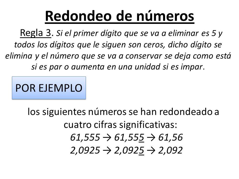Redondeo de números POR EJEMPLO 61,555 → 61,555 → 61,56
