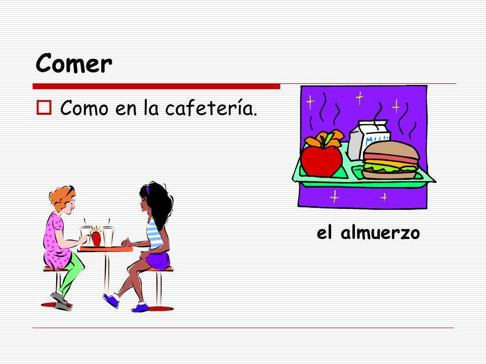 Comer Como en la cafetería. el almuerzo