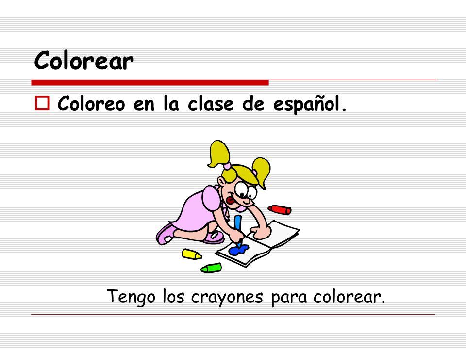 Colorear Coloreo en la clase de español.