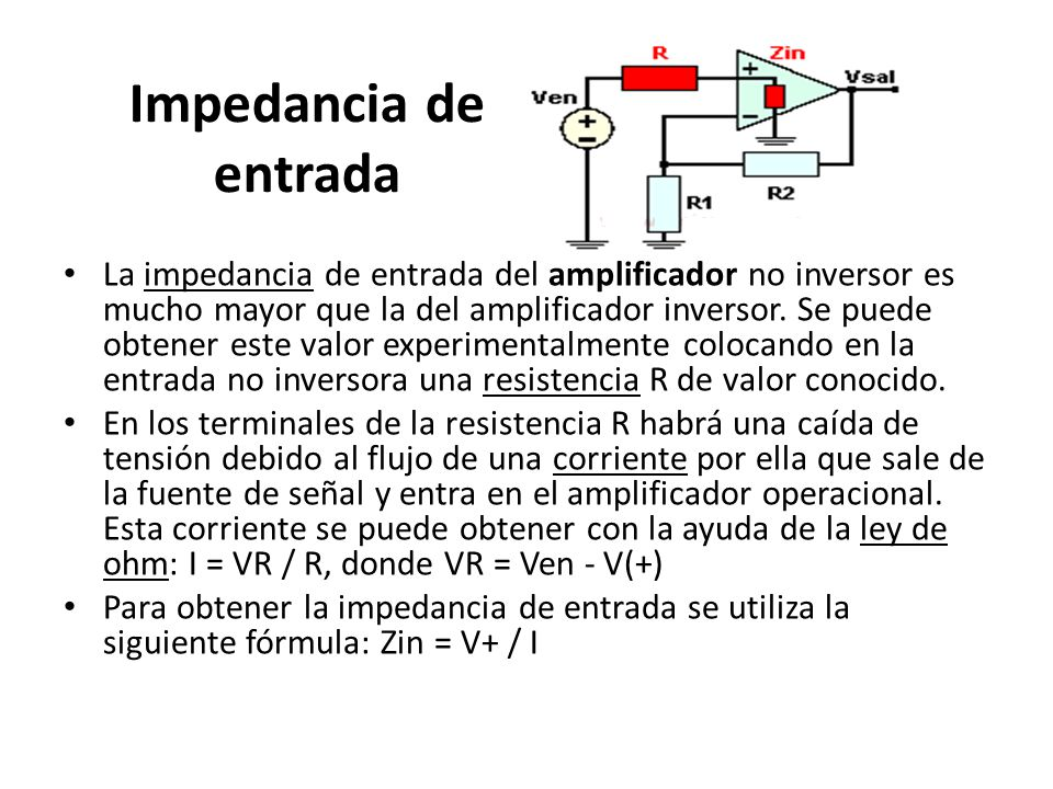 Impedancia de entrada