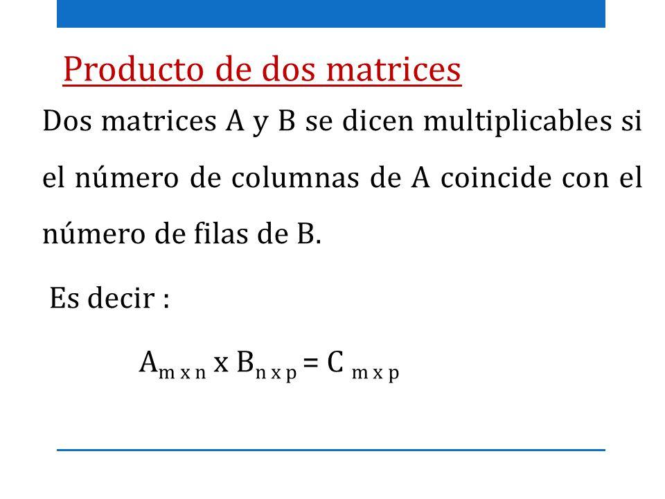Producto de dos matrices