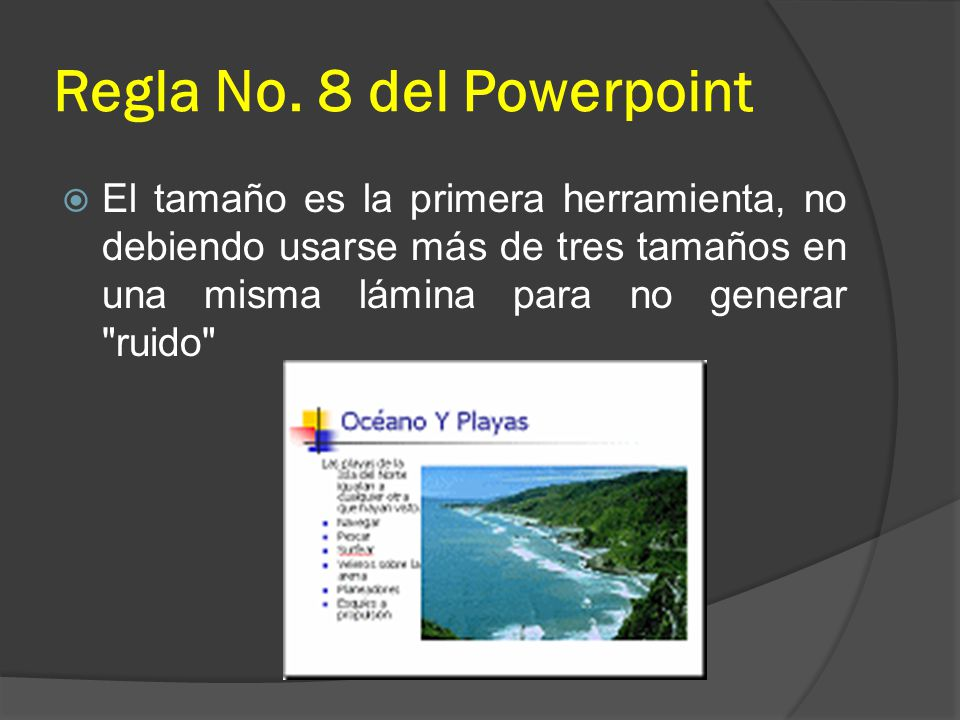 Regla No. 8 del Powerpoint