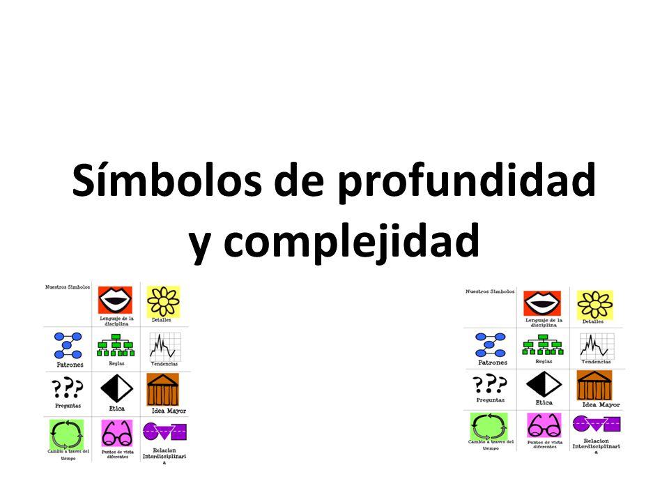 Símbolos de profundidad y complejidad
