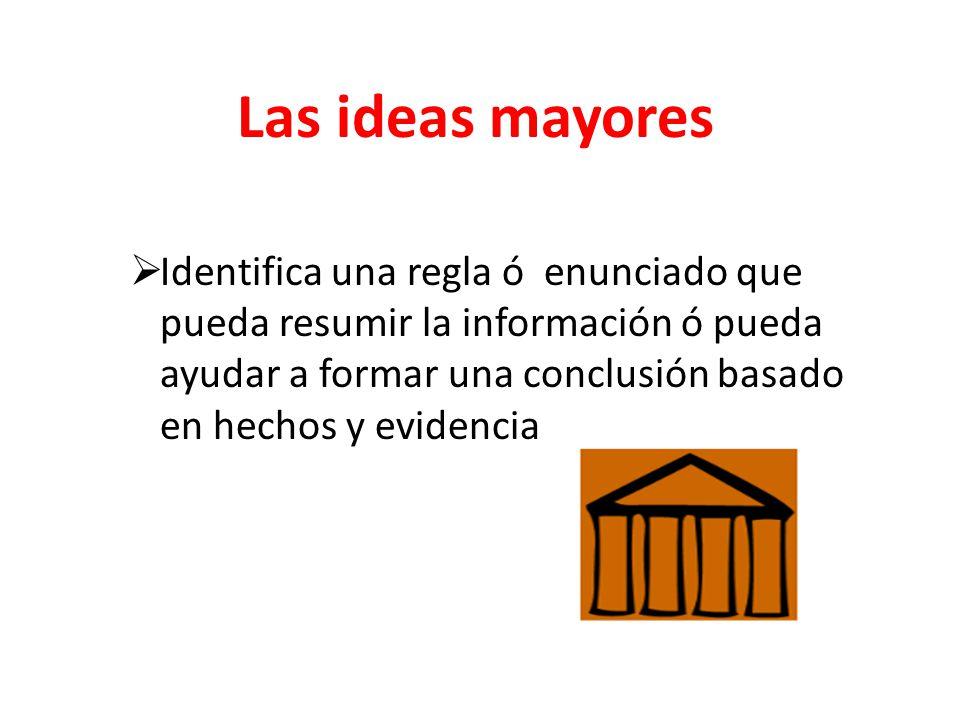 Las ideas mayores
