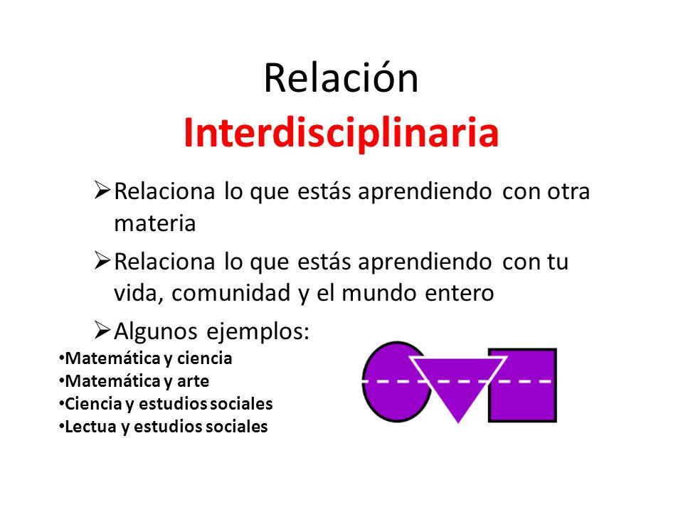 Relación Interdisciplinaria