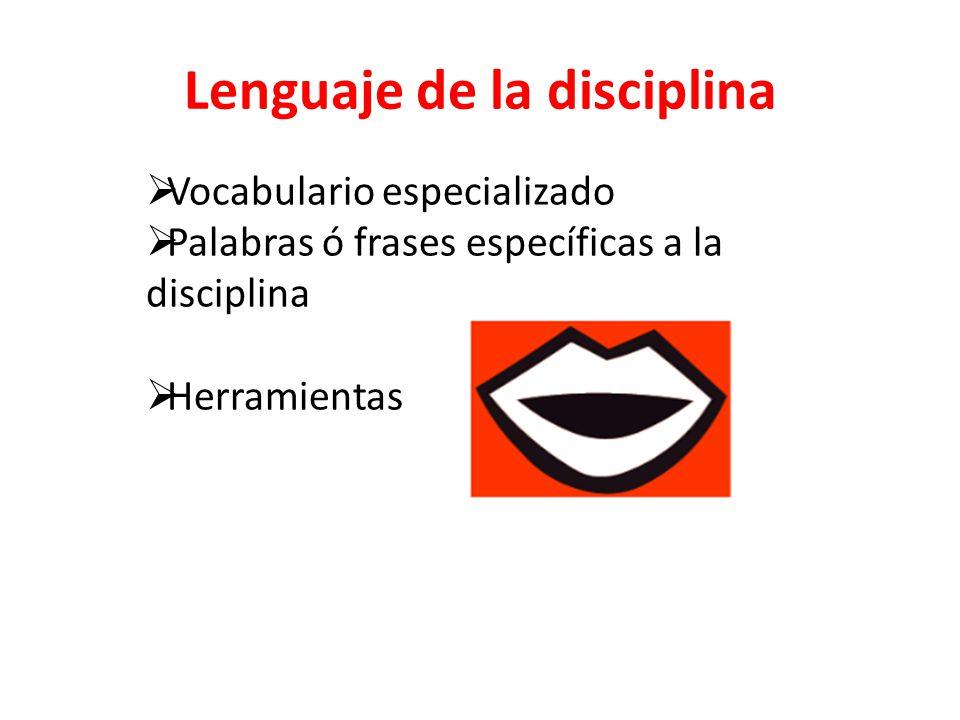 Lenguaje de la disciplina