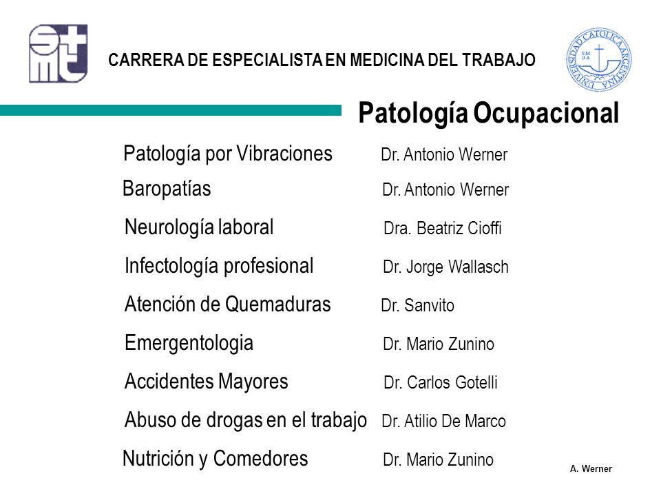 Patología Ocupacional