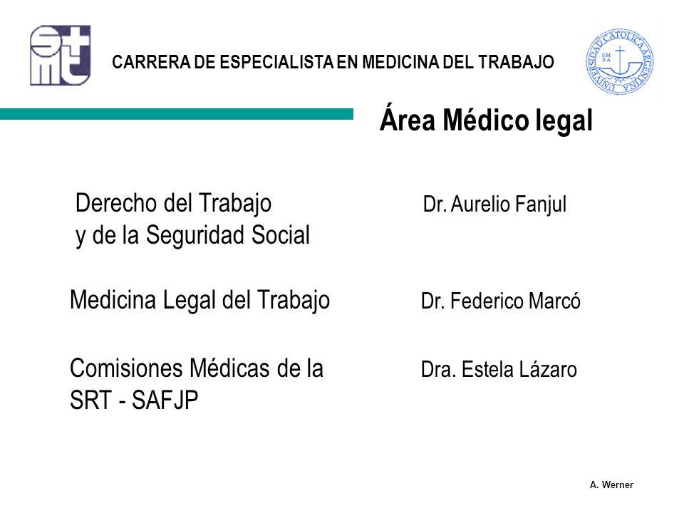 Área Médico legal Derecho del Trabajo Dr. Aurelio Fanjul