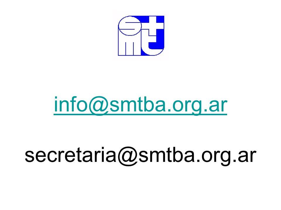 info@smtba.org.ar secretaria@smtba.org.ar