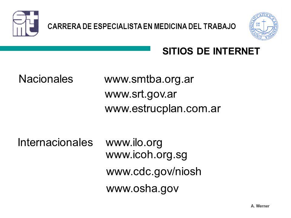 Nacionales www.smtba.org.ar www.srt.gov.ar www.estrucplan.com.ar