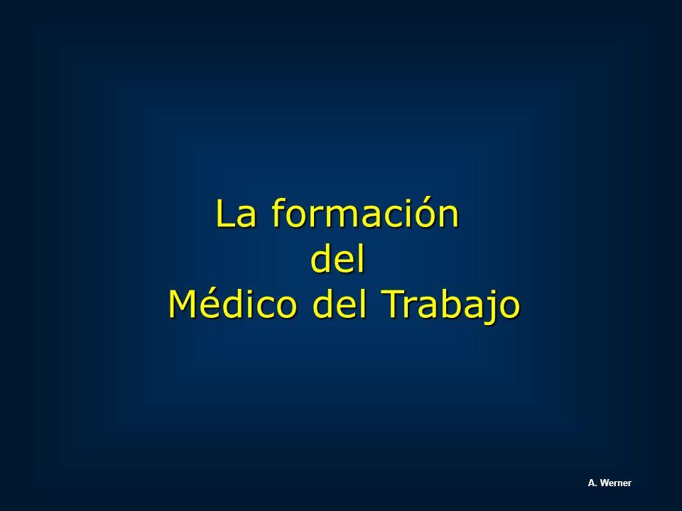 La formación del Médico del Trabajo A. Werner