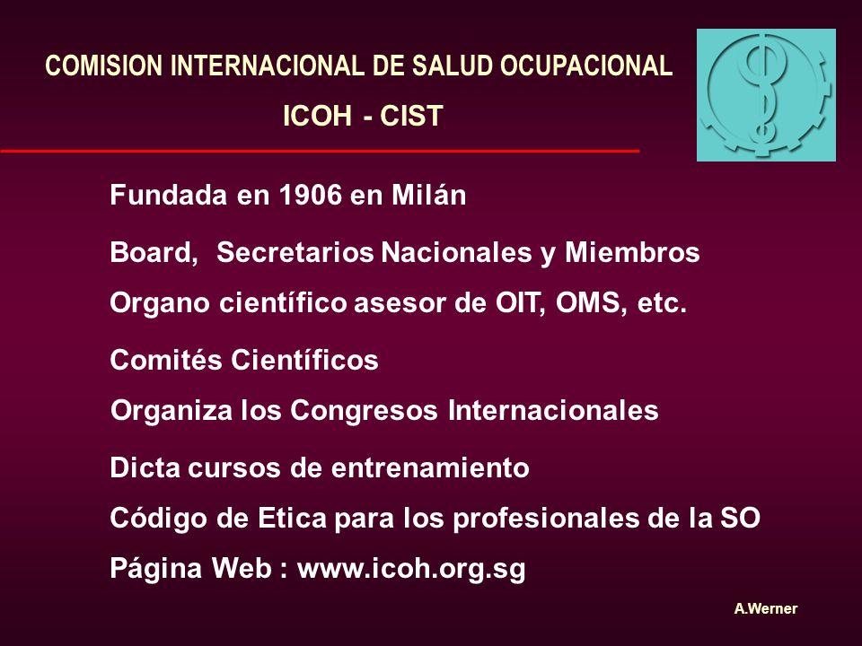 COMISION INTERNACIONAL DE SALUD OCUPACIONAL
