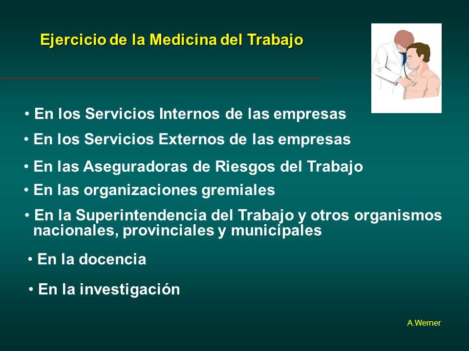 Ejercicio de la Medicina del Trabajo