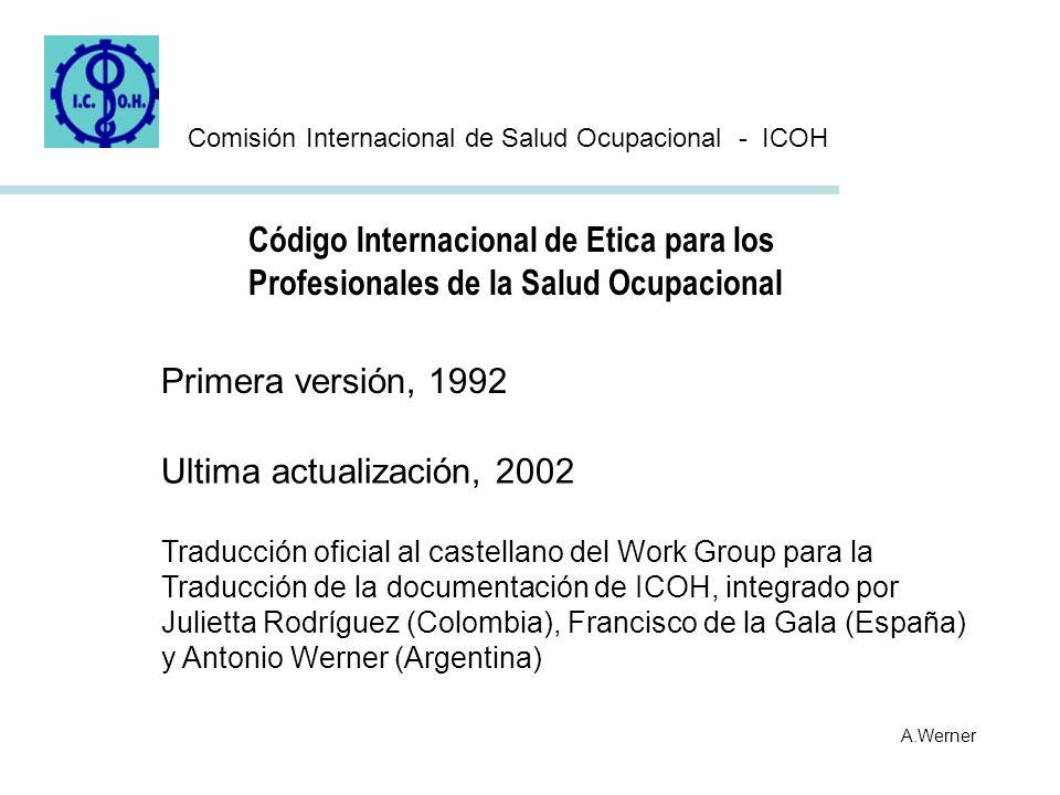 Código Internacional de Etica para los