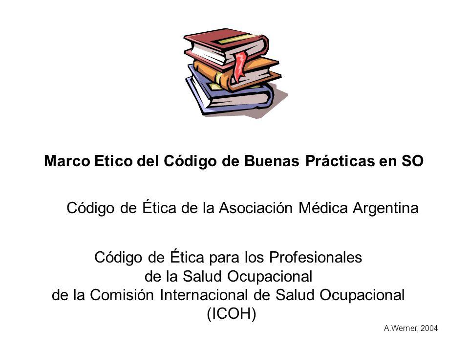 Marco Etico del Código de Buenas Prácticas en SO