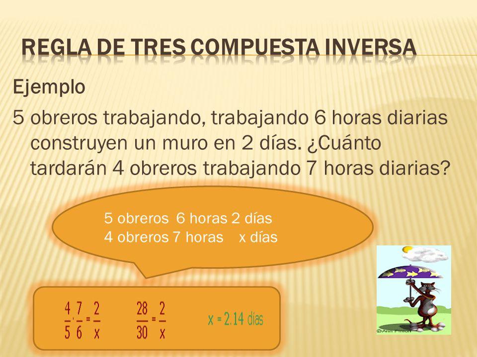 Regla de tres compuesta inversa
