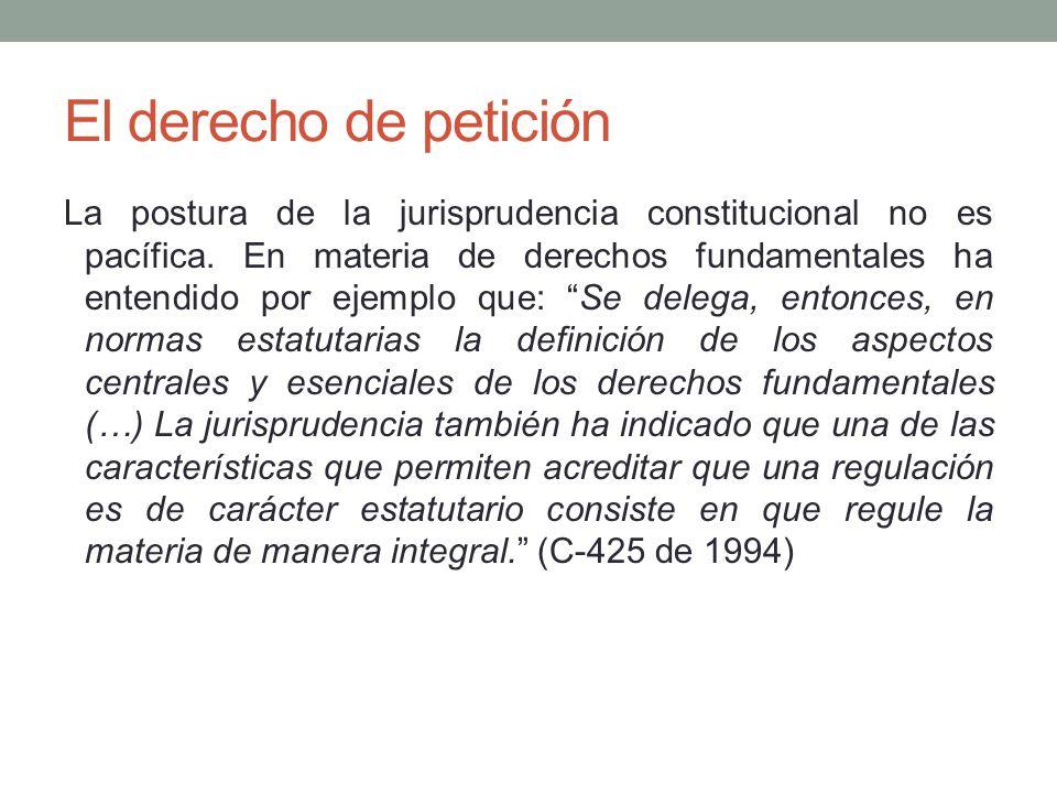 El derecho de petición