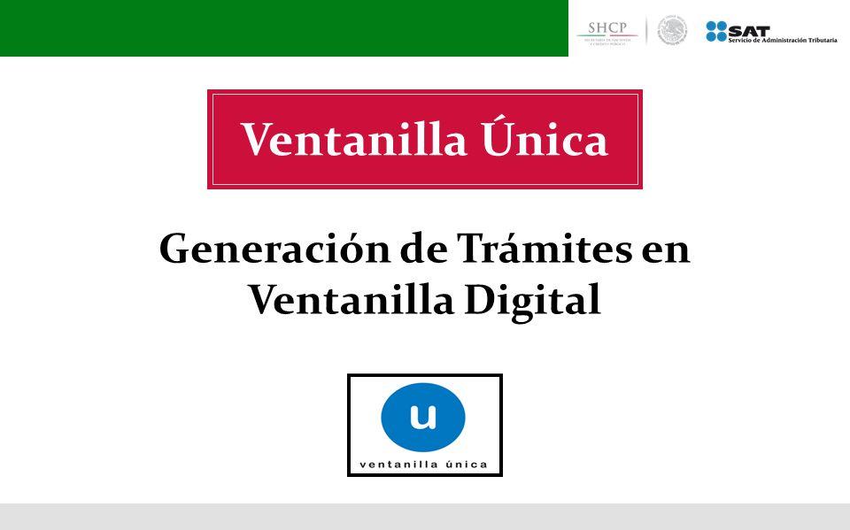 Generación de Trámites en Ventanilla Digital