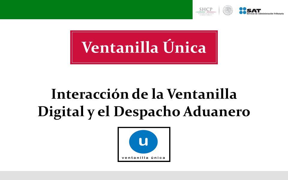 Interacción de la Ventanilla Digital y el Despacho Aduanero