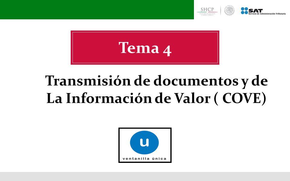Transmisión de documentos y de La Información de Valor ( COVE)