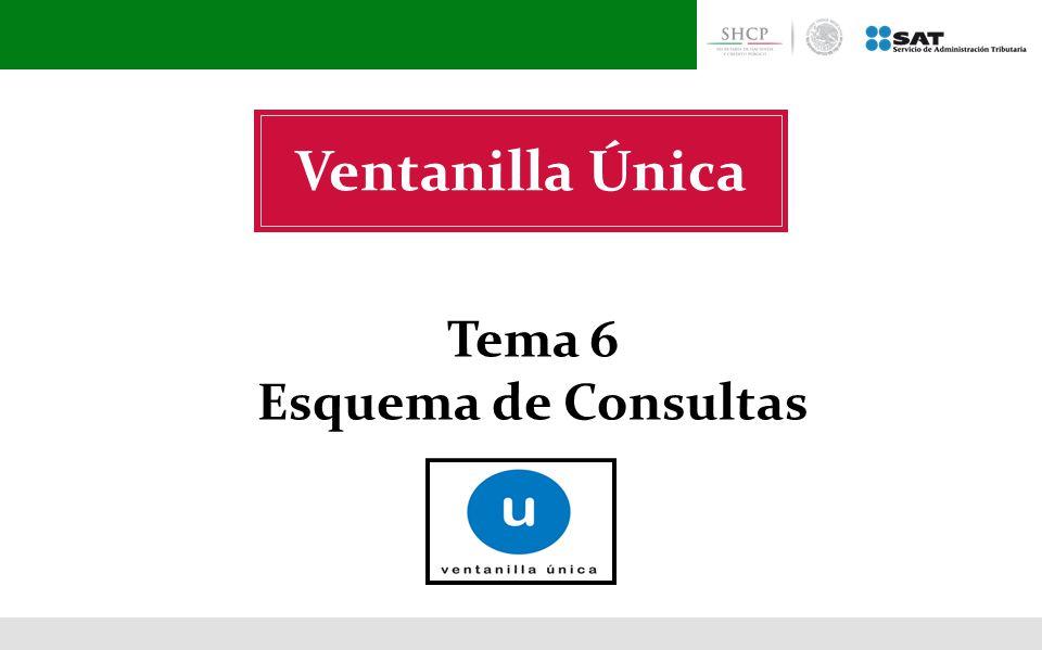Ventanilla Única Tema 6 Esquema de Consultas