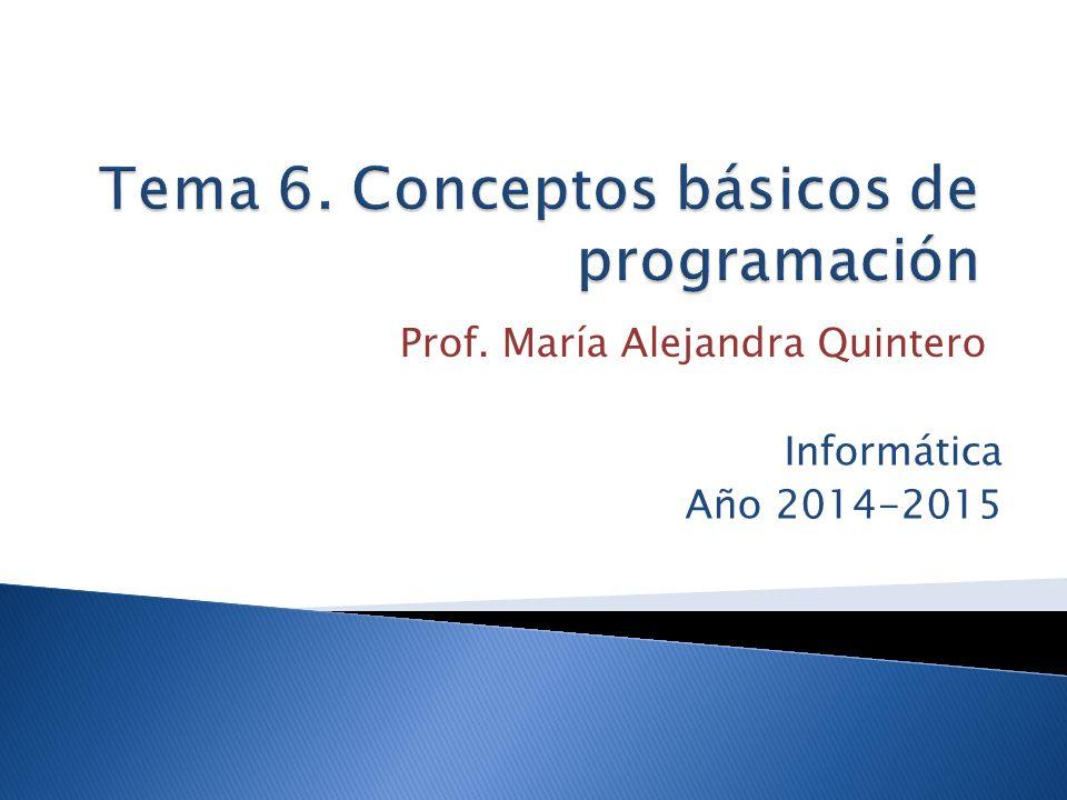 Tema 6. Conceptos básicos de programación