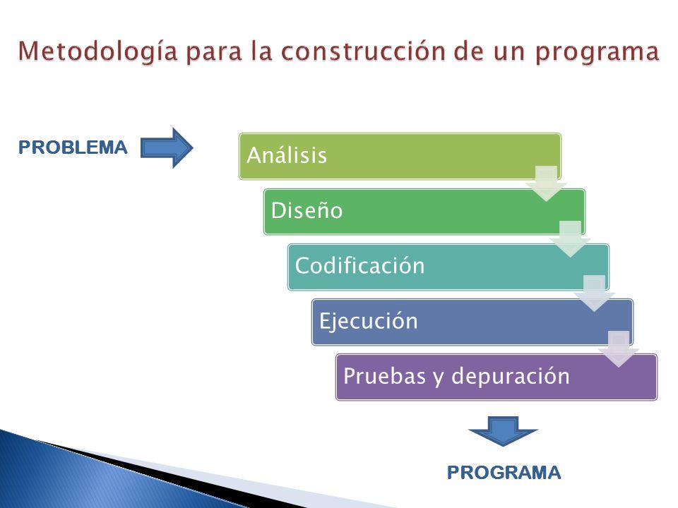 Metodología para la construcción de un programa