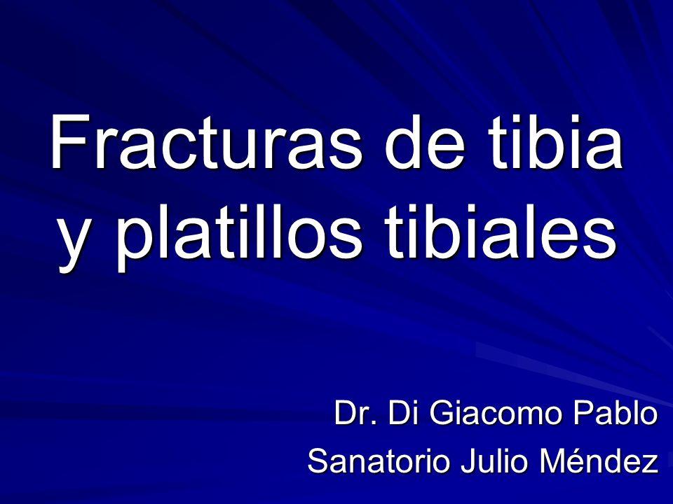 Fracturas de tibia y platillos tibiales