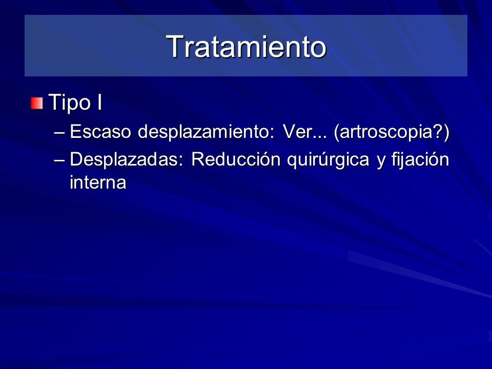 Tratamiento Tipo I Escaso desplazamiento: Ver... (artroscopia )