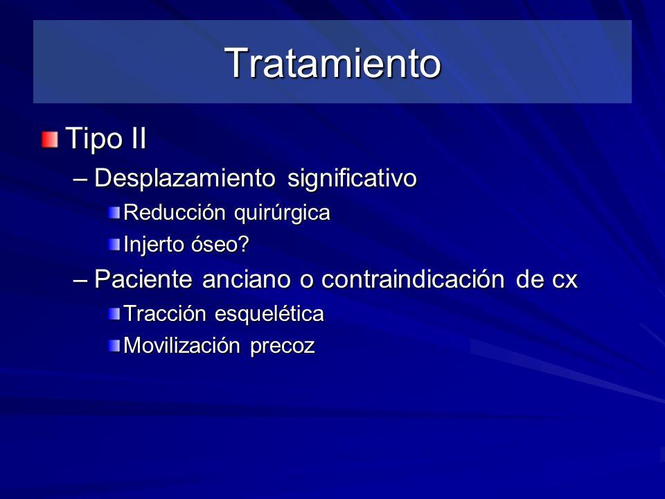 Tratamiento Tipo II Desplazamiento significativo