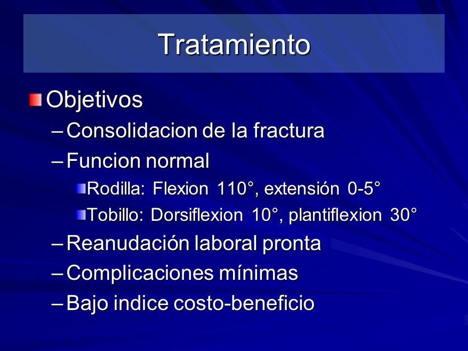 Tratamiento Objetivos Consolidacion de la fractura Funcion normal