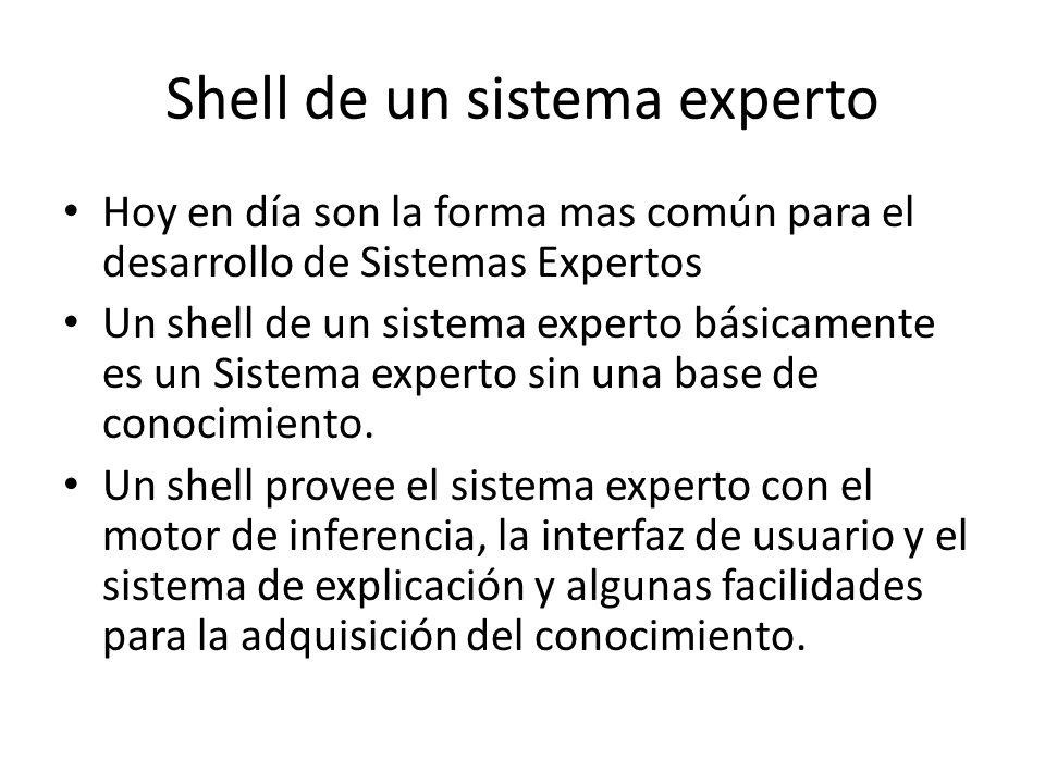 Shell de un sistema experto