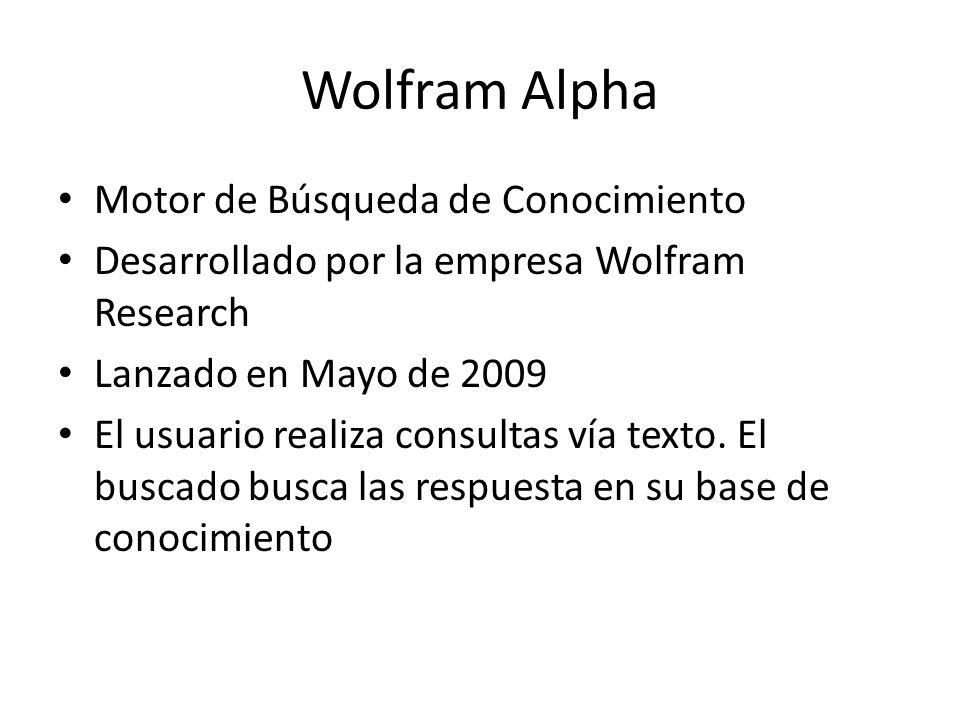 Wolfram Alpha Motor de Búsqueda de Conocimiento