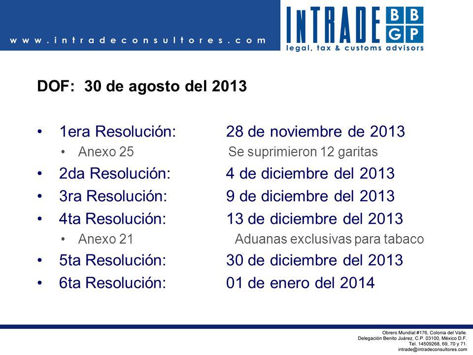 1era Resolución: 28 de noviembre de 2013
