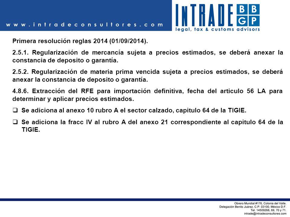Primera resolución reglas 2014 (01/09/2014).