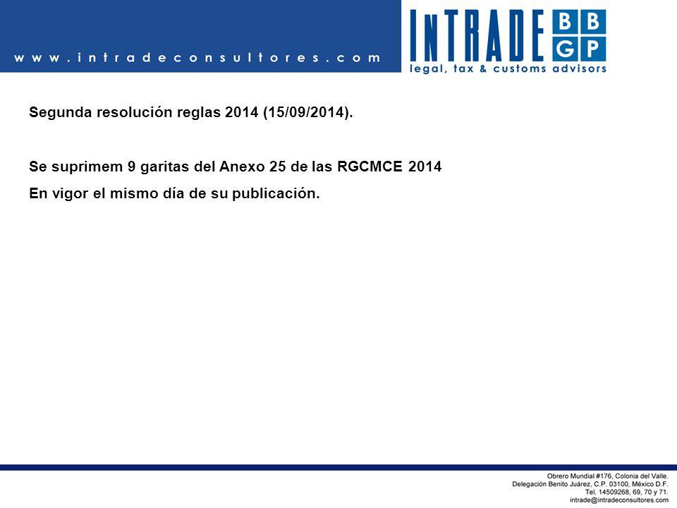 Segunda resolución reglas 2014 (15/09/2014).
