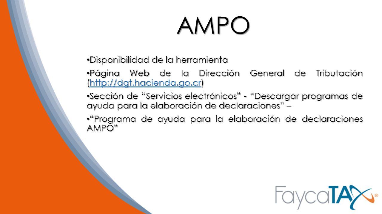 AMPO Disponibilidad de la herramienta