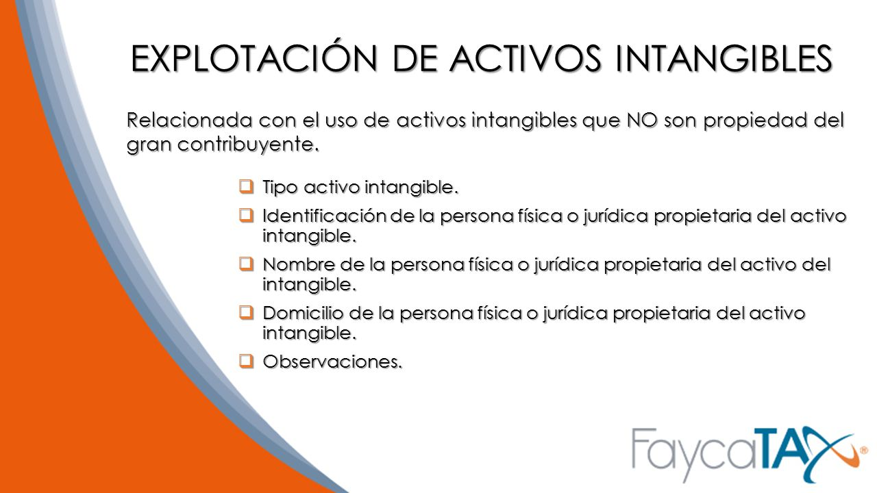 EXPLOTACIÓN DE ACTIVOS INTANGIBLES